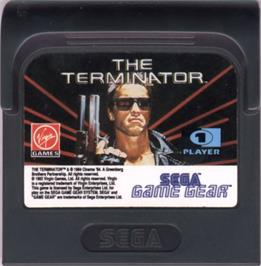 Cartridge artwork for Terminator on the Sega Game Gear.