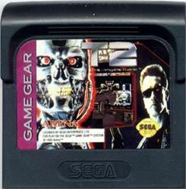 Cartridge artwork for Terminator 2 - Judgment Day on the Sega Game Gear.