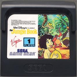 Cartridge artwork for Walt Disney's The Jungle Book on the Sega Game Gear.