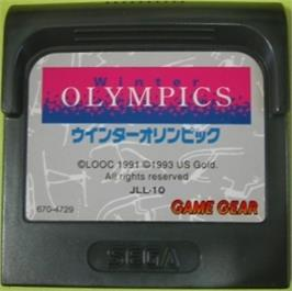 Cartridge artwork for Winter Olympics: Lillehammer '94 on the Sega Game Gear.