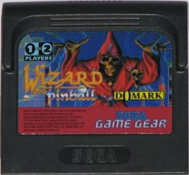 Cartridge artwork for Wizard Pinball on the Sega Game Gear.