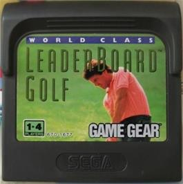 Cartridge artwork for World Class Leaderboard on the Sega Game Gear.