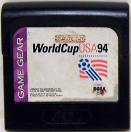 Cartridge artwork for World Cup USA '94 on the Sega Game Gear.