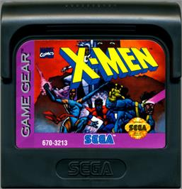 Cartridge artwork for X-Men: Mojo World on the Sega Game Gear.