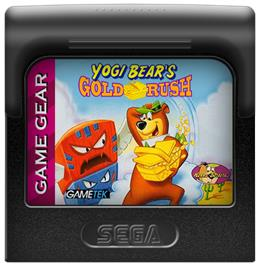 Cartridge artwork for Yogi Bear in Yogi Bear's Goldrush on the Sega Game Gear.