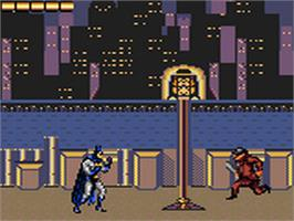 In game image of Adventures of Batman and Robin on the Sega Game Gear.