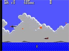 In game image of Aerial Assault on the Sega Game Gear.