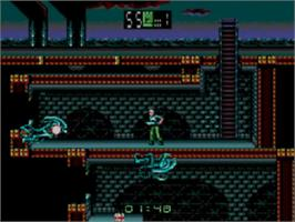 In game image of Alien³ on the Sega Game Gear.