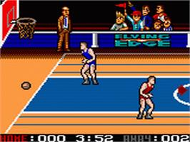 In game image of Arch Rivals on the Sega Game Gear.