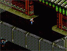 In game image of Arena: Maze of Death on the Sega Game Gear.