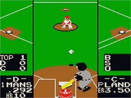 In game image of Batter Up on the Sega Game Gear.