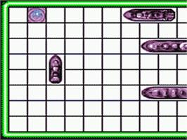 In game image of Battleship on the Sega Game Gear.