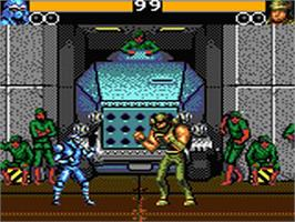 In game image of Buster Fight on the Sega Game Gear.