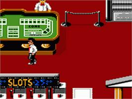In game image of Caesar's Palace on the Sega Game Gear.