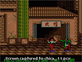 In game image of Chicago Syndicate on the Sega Game Gear.