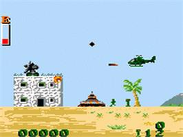 In game image of Choplifter 3 on the Sega Game Gear.