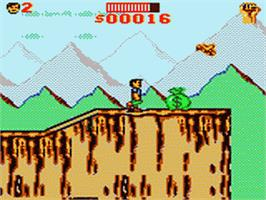 In game image of Cliffhanger on the Sega Game Gear.