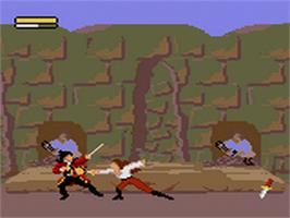 In game image of Cutthroat Island on the Sega Game Gear.