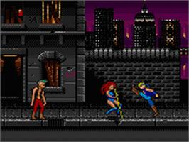 In game image of Double Dragon on the Sega Game Gear.