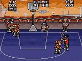 In game image of Dunk Kid's on the Sega Game Gear.