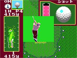 In game image of Fred Couples Golf on the Sega Game Gear.
