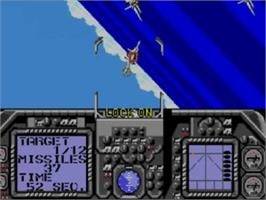 In game image of G-Loc Air Battle on the Sega Game Gear.