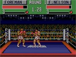 In game image of George Foreman's KO Boxing on the Sega Game Gear.