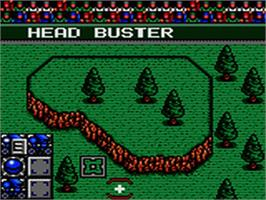 In game image of Head Buster on the Sega Game Gear.
