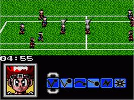 In game image of Honoo no Doukyuuji: Dodge Danpei on the Sega Game Gear.