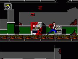 In game image of Last Action Hero on the Sega Game Gear.