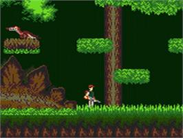 In game image of Lost World: Jurassic Park on the Sega Game Gear.