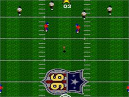 In game image of Madden NFL '96 on the Sega Game Gear.