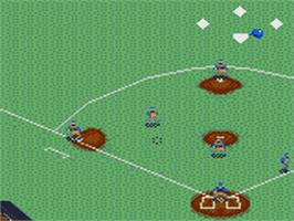 In game image of Majors Pro Baseball on the Sega Game Gear.