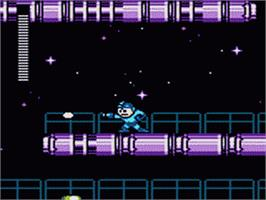In game image of Mega Man on the Sega Game Gear.