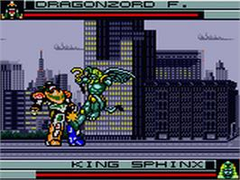 In game image of Mighty Morphin Power Rangers: The Movie on the Sega Game Gear.