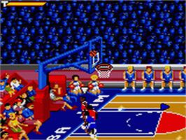 In game image of NBA Jam on the Sega Game Gear.