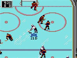 In game image of NHL All-Star Hockey on the Sega Game Gear.