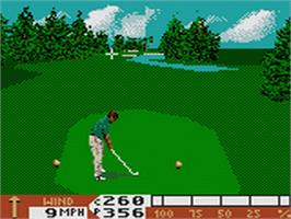 In game image of PGA Tour Golf '96 on the Sega Game Gear.