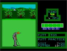 In game image of PGA Tour Golf on the Sega Game Gear.