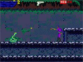 In game image of Phantom 2040 on the Sega Game Gear.