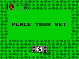 In game image of Poker Face Paul's Poker on the Sega Game Gear.