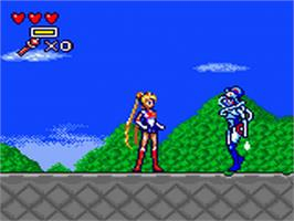 In game image of Pretty Solidier Sailor Moon S on the Sega Game Gear.