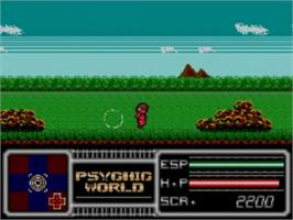 In game image of Psychic World on the Sega Game Gear.