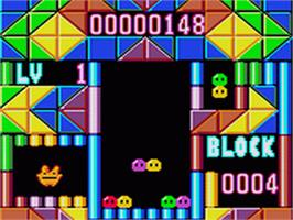 In game image of Puyo Puyo on the Sega Game Gear.
