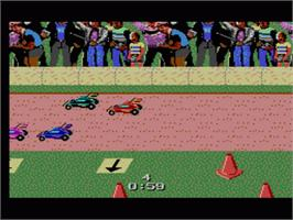 In game image of R.C. Grand Prix on the Sega Game Gear.