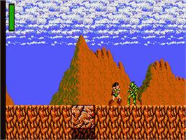 In game image of Rastan Saga on the Sega Game Gear.