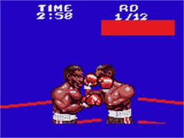 In game image of Riddick Bowe Boxing on the Sega Game Gear.