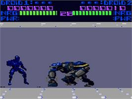 In game image of Rise of the Robots on the Sega Game Gear.