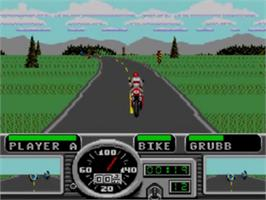 In game image of Road Rash on the Sega Game Gear.