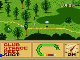 In game image of Scratch Golf on the Sega Game Gear.